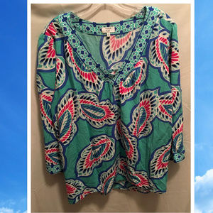 Size 2X Crown & Ivy Top Cute V-Neck